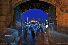 Rush Hour (Sam Antonio Photography) Tags: turkey sofia aya mosque architecture byzantine famous sophia istanbul church landmark sofya europe historic travel constantinople building turkish islam ayasofya ottoman monument minaret hagia attraction dome historical culture museum evening sultanahmet sky old blue history cathedral urban religion christian