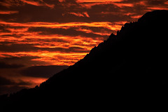 burning (Matt_étranger) Tags: burn burning fire europe italy landscapes nature alps mountains sunrise sky fired cloudy orange colorful splash colors wilderness woods contrasts silhouette dawn