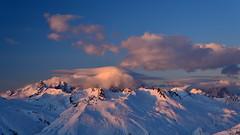 Sunset on Montblanc (Joce734) Tags: lesars frenchalps freestyle freeski sunset mountains montblanc savoie shred snow