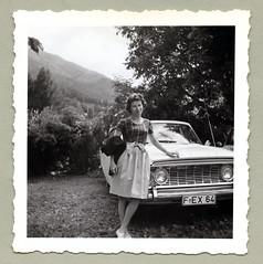 "Ford Zodiac Mk III (Vintage Cars & People) Tags: vintage classic black white ""blackwhite"" sw photo foto photography automobile car cars motor ford forduk zodiac zodiacmkiii girl woman lady fashion dress dirndl 1960s 60s sixties"