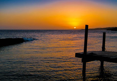 Island Dock (mikederrico69) Tags: sun sunset sky dusk ocean oceanside oceanscape seaside sea dock tropic tropical island reflection meditation silouhette orange roatan honduras caribbean beach summer scenic scenery panoramic