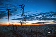 Dawn Windmill_200951 (rjmonner) Tags: agriculture agricultural agronomy agronomic antique aged antiquity acreage acres architecture blue blades bygonedays barbedwire country cornbelt clouds cold dormant dawn earlylight farm fence farming gate heartland iowa isolated nikon sky land light midwest metal morning outdoors post posts quiet rural relic rustic sunrise textured usa vintage vanishing windmill windmillwednesday wire yesteryear yore