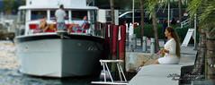 The strange offering to Tethys. (Aglez the city guy ☺) Tags: people downtownmiami river miamiriver urbanexploration riverbank riverwalktrail outdoors walkingaround waterways walking