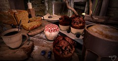 Rustic Breakfast (Rose Beaumont) Tags: sl secondlife virtual life breakfast rustic champetre gacha event foodcourtevent thor bread pain jam food nourriture cacke myrtilles blueberries café coffie cup tasse mousse latte macciato capuccino espresso expresso chocolat framboises