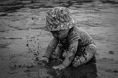Splash! (rodrodcr06) Tags: cute funny child baby boy fun costarica sonya6400 sandybeach water splash hat sea beach sand