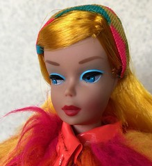 Color Magic Beauty (Foxy Belle) Tags: doll barbie color magic mod pink orange fur francie vintage