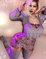 JOY. (Destinii Demina) Tags: seniha sl secondlife second life dress sweater doux boots