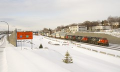 CN 120 (Michael Berry Railfan) Tags: cn canadiannational cn120 train freighttrain montreal montrealsub winter snow ge generalelectric es44ac cn2849 cn8859 cn2117