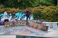 watch and learn (georgetan_chapter2) Tags: sport exercise outdoor game park people skateboard