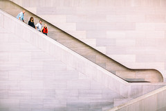 The Americans (Thomas Hawk) Tags: america dc districtofcolumbia nationalgalleryofart usa unitedstates unitedstatesofamerica washingtondc architecture escalator washington fav10 fav25 fav50 fav100