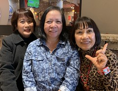 Jovial Trio (poavsek) Tags: iphone lunch friends portrait working restaurant smiles pinoy