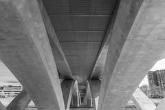 Scioto Mile_DSC9789 (GmanViz) Tags: gmanviz sonya6000 columbus ohio architecture blackandwhite bw bridge sciotomile river