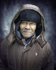 Gino (mckenziemedia) Tags: man portrait portraiture face smile hood coat chicago city urban street streetphotography people humanity homeless homelessness