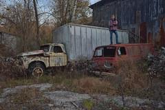 Vandwelling (jgurbisz) Tags: jgurbisz vacantnewjerseycom ford econoline junkyard boneyard cars vehicles trucks exploring decay red van life vandwelling