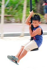 thrilled and scared (georgetan_chapter2) Tags: sport exercise outdoor game park people panning georgetan excitement