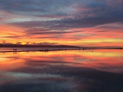 Marine Lake West Kirby (MerseySpyder) Tags: marinelake westkirby sunset waterreflection pattern wirral uk amateurphotographer phonephotography nofilter