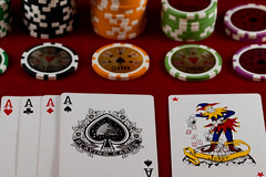 The Joker (Tony Howsham) Tags: chips pokerchips joker aces ace 105mm sigma 80d eos canon