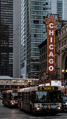Chicago (bior) Tags: chicago theater marquee bus urban city metropolis fujifilmxt3 xf50mmf2