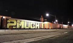 2MUCH (EricBMW) Tags: graffiti freight train rails railroad boxcar 2much