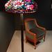 armchair and peony floor lamp 02 - Tiffany Studios