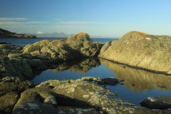 Rock pool, Isle of Gigha (alanpitman703) Tags: scotland argyllandbute argyll winter gigha rockpool calm