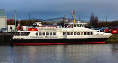 Scotland Greenock in the ship repair dock the Gourock-Dunoon foot passenger ferry the Argyll Flyer 12 December 2019 by Anne MacKay (Anne MacKay images of interest & wonder) Tags: scotland greenock ship repair dock foot passenger ferry caledonian macbrayne calmac argyll flyer 12 december 2019 picture by anne mackay
