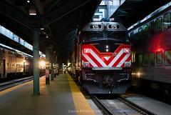 Pre-Rush (Carlos Ferran) Tags: metra ogilvie transportation center otc chicago illinois il f40ph locomotive railroad station union pacific geneva subdivision