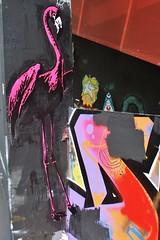 IMG_6838 boulevard du Général Jean Simon Paris 13 (meuh1246) Tags: streetart paris boulevarddugénéraljeansimon lelavomatik paris13 animaux oiseau flamantrose