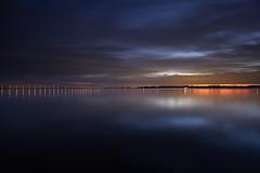 Deep blue twilight (chibitomu) Tags: blue bridge lake landscape lights twilight kasumigaura namegatashi ibaraki japan 霞ヶ浦 夕暮れ 行方市 茨城県 日本 chibitomu