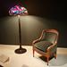 armchair and peony floor lamp - Tiffany Studios