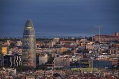 Torre Agbar al Anochecer (Neverlan) Tags: neverlan barcelona torre agbar tower city longexposure luces cataluña catalonia barcelonne catalunya anochecer panoramic street