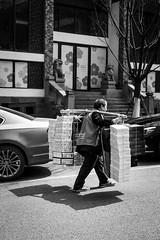 Shoe boxes (Go-tea 郭天) Tags: chongqing old man shoe boxes heavy républiquepopulairedechine work walking alone walk duty hard pole busy strong lonely shoulder plenty weight carry carrying carried street city shadow people urban bw sun white black outside outdoor candid working sunny delivery carrier bnw china light blackandwhite monochrome canon asian eos prime blackwhite asia natural chinese naturallight 24mm 100d