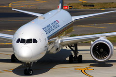 Singapore Dream...(Boeing 787-10 9V-SCF) (Manuel Negrerie) Tags: sq sia tpe aircraft details genx trent rollsroyce airliners jetliner design composite singaporeairlines taoyuanairport livery planes avgeeks spotting canon closeup engines travel asia 9vscf
