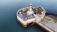 Dun Laoghaire Port and Beacon (Phoenix Konstantin) Tags: dunlaoghaire ireland port dji djimavicmini drone photo beacon