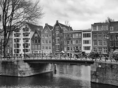 Nieuwe Prinsengracht 4-1-20 (c.stoof) Tags: nieuweprinsengracht onbekendegracht gracht canal bridge facades brug gevels amsterdam centrum bike fiets