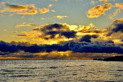 Evening seascape (prokhorov.victor) Tags: море пейзаж природа вечер закат небо облака солнце вода