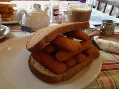 Comfort Food (RoystonVasey) Tags: apple iphone 5 cumbria lake district ldnp wet weekend rain pub crawl fish finger sandwich