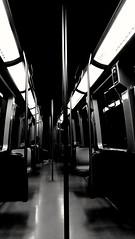 Alone in the dark... (VauGio) Tags: metro nighttrain metropolitan metropolitana torino turin huaweip10 p10 leica leicalens biancoenero blackandwhite dark notte scuro aloneinthedark