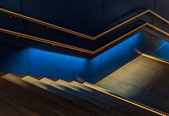 Blue stairs (jefvandenhoute) Tags: belgium belgië antwerp railwaystation centraalstation blue stairs