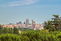Madrid skyline (Miguel Ángel Prieto Ciudad) Tags: outdoors architecture sky day city building exterior tree built structure cityscape cloud nature town skyline madrid spain summer sonyalpha alpha3000