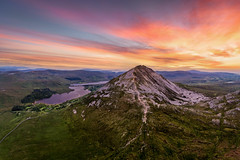 "Errigal Mountain ""The Queen of Gweedore"" (Gareth Wray - 13 Million Views, Thank You) Tags: bunbeg gweedore dji poisoned glen mt mount mountain errigal pyramid sun set sunset tory island pano dunlewey church foot phantom four 4 pro p4p drone aerial quadcopter landscape landmark tourist attraction tourism tourists historic history visit donegal ireland irish scenic gareth wray photography atlantic day vacation 2019 derrybeg gaeltacht lake lough hill rural grass trees field reflections top climb hike"