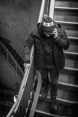 Alter Elbtunnel (michael_hamburg69) Tags: hamburg germany deutschland alterelbtunnel kuppel dome geotagged river elbe tunnel oldriverelbetunnel elbtunnel unterführung fusgängertunnel kfztunnel stair stairway stairs treppe stufen smartphone man pudelmütze