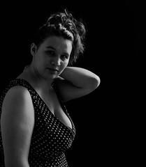 Silvia (BenoitGEETS-Photography) Tags: theater théâtre d610 nikon tamron 2470 bw bn nb tristesse sadness actress actrice nikonpassion blackwhite noiretblanc regard