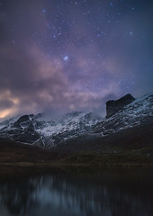 Sky of the Fjords (Manos Tzavaras) Tags: astrophotography astroscape seascape stars stargazing a7s norway snowscape