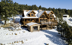 Escape (.sanden.) Tags: mavicpro luxury realestate logcabin mansion rye colorado outdoors snow estate building home house trees forest sanden