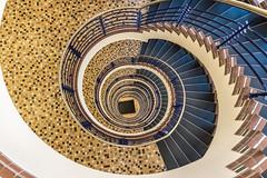 Brahmskontor (michael_hamburg69) Tags: stairs stairway staircase spiral wendeltreppe wendel helix hamburg germany deutschland treppenhaus brahmskontor johannesbrahmsplatz kontorhaus kontor backstein daghaus karlmuckplatz lundtkallmorgen stahlskelett stahlskelettbauweise 1903 treppe treppenauge escalier geländer handlauf stufen stufe escala escalera scala 台阶 [臺階]táijiē jiētī 阶梯 [階梯]подниматься по лестнице крутая лестница artdéco photowalkmitelbmaedchen unterwegsmitjutta