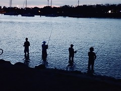 Still One More Cast  Sunshine Coast  Australia (alex.cheng30) Tags: wading fish dinner latefordinner gohome late hour blue bluehour softplastics spin bait lure relax relaxing friends mates silhouette fishing