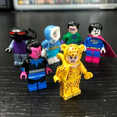 The Legion of Doom (Andrew Cookston) Tags: lego dc comics cmf sinestro cheetah bizarro captain cold theriddler blackmanta stilllife macro andrewcookston