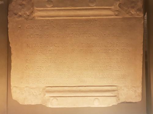 Inscription of the Tomb of Caius Novus Minyas