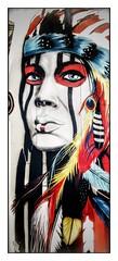 L'indienne (Jean-Louis DUMAS) Tags: art artistic artistique artist streetart street artdelarue visage portrait portraiture colors couleurs